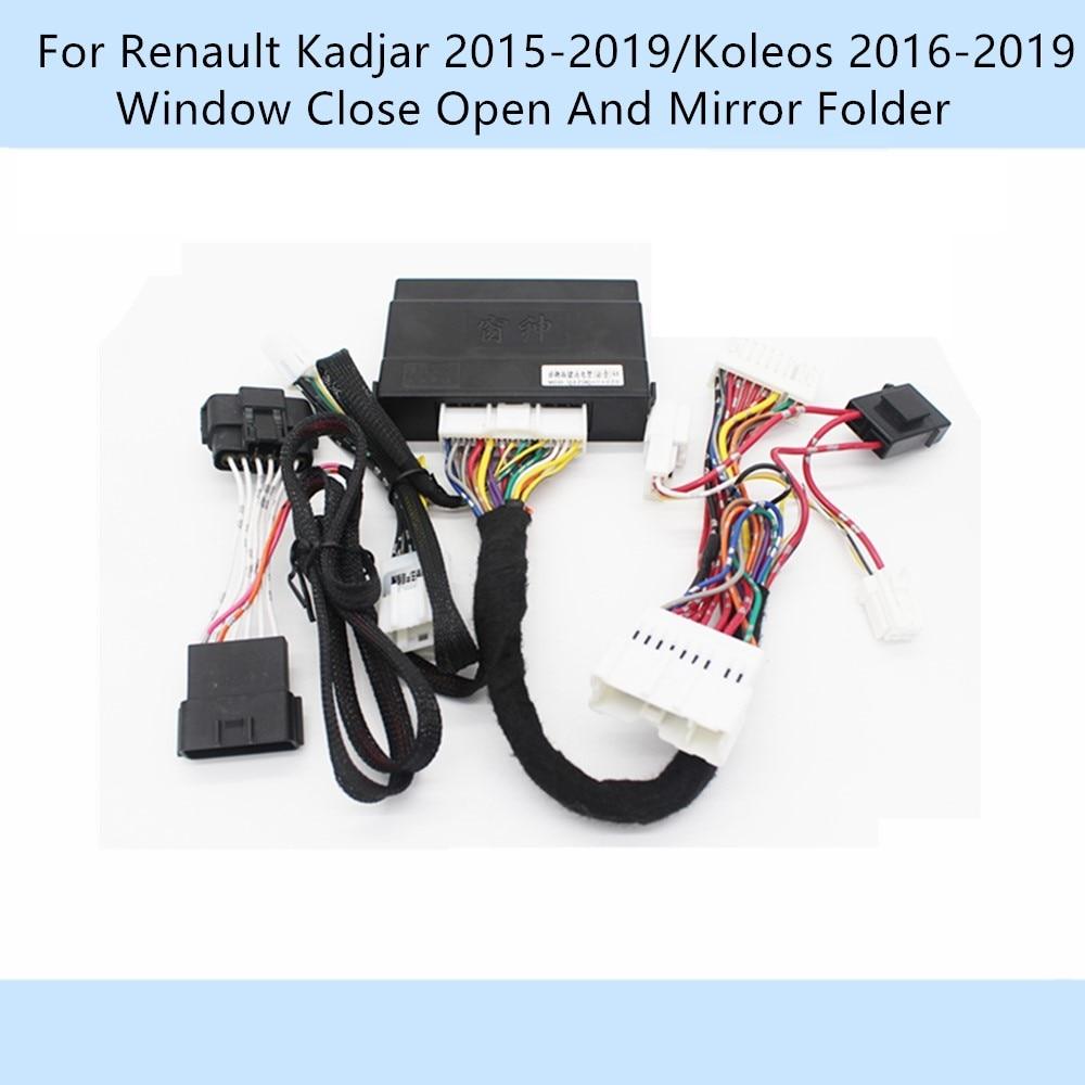 Car Automatically 4 Door Window Closer Open Side Mirror Folder Folding Spread For Renault Kadjar 2015-2019/Koleos 2016-2019