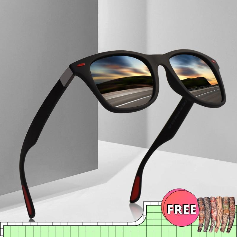 2020 Polarized Men Women Sunglasses Men's Square Driving Mens Classic Retro Sun Glasses Brand Design Male Goggle UV400 Eyewear