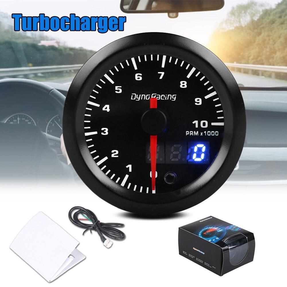 Tachymètre de voiture 3 chiffres affichage Modification automatique 12V 52mm pointeur compteur de vitesse universel TD326