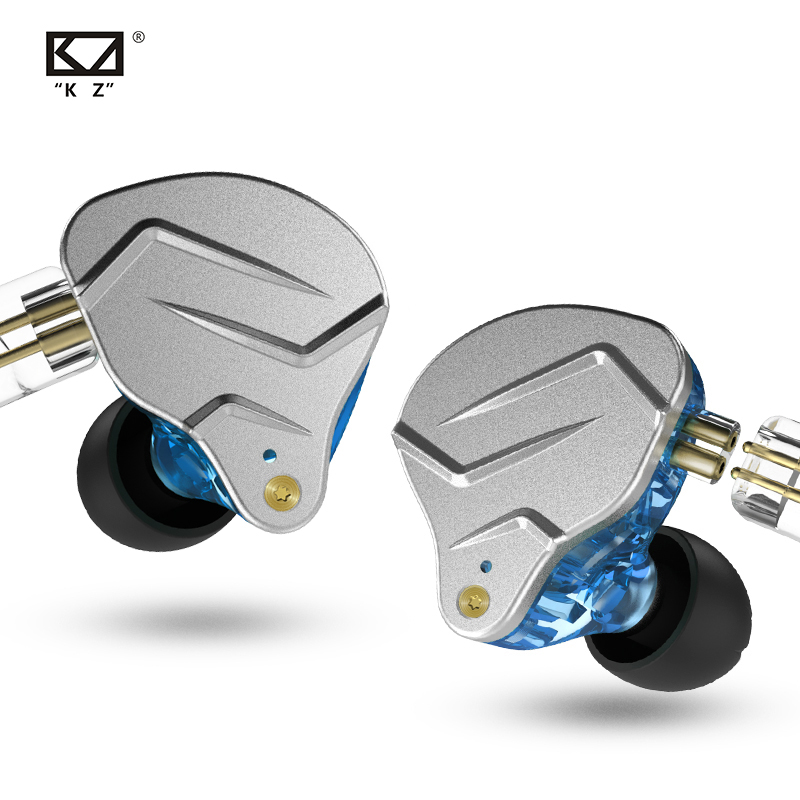 KZ ZSN Pro 1BA+1DD HiFi Hybrid Dual Driver In Ear Earbuds with Metal Resin Housing and 0.75mm 2 Pin Detachable Cable