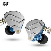 KZ ZSN Pro 1BA + 1DD HiFi 하이브리드 듀얼 드라이버  이어 버드  금속 수지 하우징 및 0.75mm 2 핀 분리형 케이블 포함