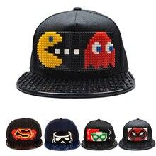 New Puzzle Games Blocks DIY legos Baseball Hat Bob Marley Pixels Superhero Dad