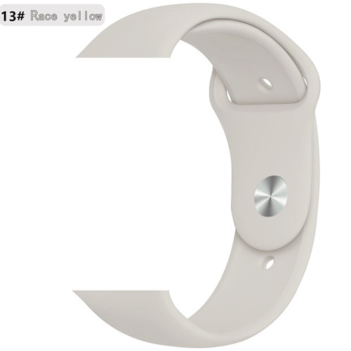 Ремешок для apple watch band 44 мм/40 мм iwatch band 5 4 42 мм 38 мм correa pulseira watch band для apple watch 5 4 3 браслет 44 мм - Цвет ремешка: Race yellow 13