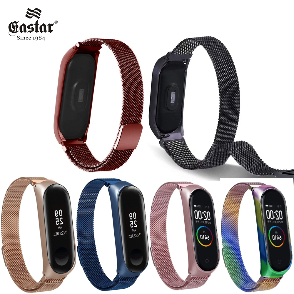 Watchband For Xiaomi Mi Band 3 4 Strap Metal Milanese Stainless Steel MiBand 4 Strap Compatible Bracelet Wrist Pulseira