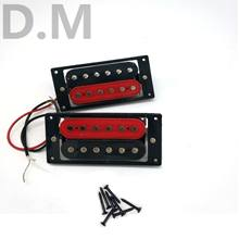 Electric Guitar Duplex Double Coil Vibration Pickup Certain A- Black Red Black Frame Vibration Pickup 50 52 #(China)