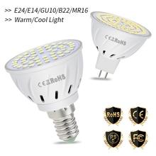 MR16 LED Bulb GU10 220V Spotlight E27 Spot Light Bulb E14 Focos LED Lamp B22 Corn Light GU5.3 Bombillas 48 60 80leds Home Lamp стоимость