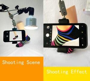 Image 2 - Telefone desktop fotografia 35w lâmpada led com suspensão braço suporte kits para fotografia de vídeo preenchimento luz 3 modos luz