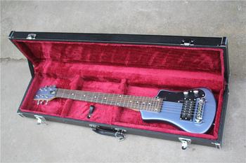 Darmowa wysyłka 6 ciąg niebieski gitara dzieci bas dla dzieci gitara basowa gitara podróży korpus wykonany z lipy czarny przetworniki klon szyi tanie i dobre opinie NONE CN (pochodzenie)