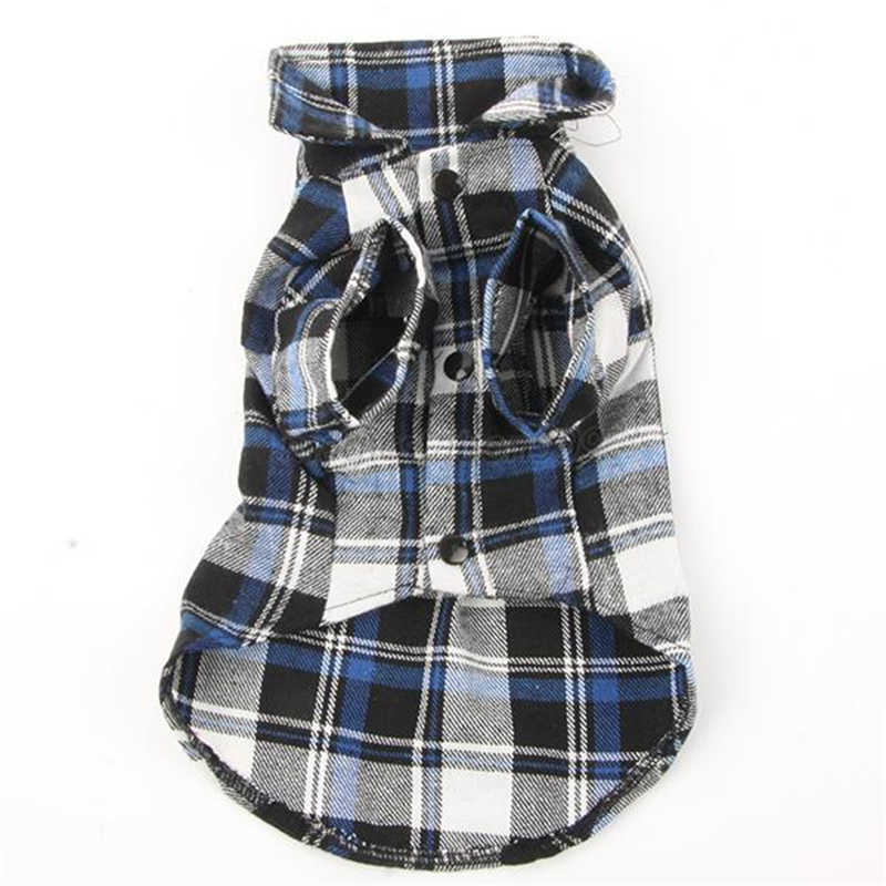 Dog Pet Plaids Shirt Costume Dog Clothes Festival T-Shirt Autumn Spring Clothing For Pet Dogs Cat Grid Clothes