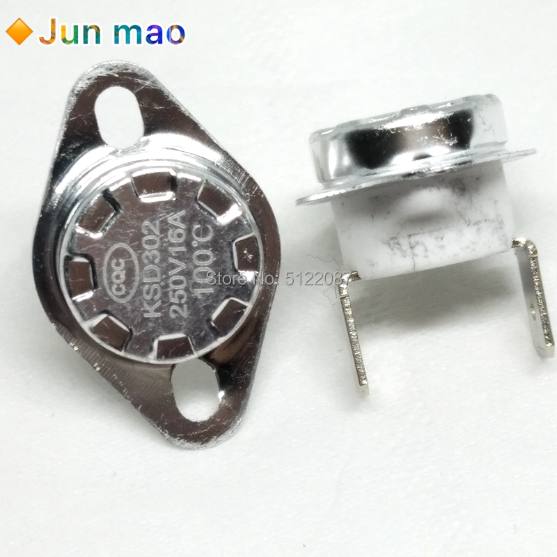 3pcs KSD302 <font><b>16A</b></font> <font><b>250V</b></font> 40-130 85C Degree Ceramic KSD301 Normally Closed Temperature Switch <font><b>Thermostat</b></font> 45 55 60 65 70 75 80 85C 9 image