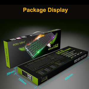 Image 5 - 게이밍 키보드 게이머 기계식 모조 키보드 게이밍 RGB 키보드 (백라이트 포함) 인체 공학적 키 보드 104 키캡 (PC 용)
