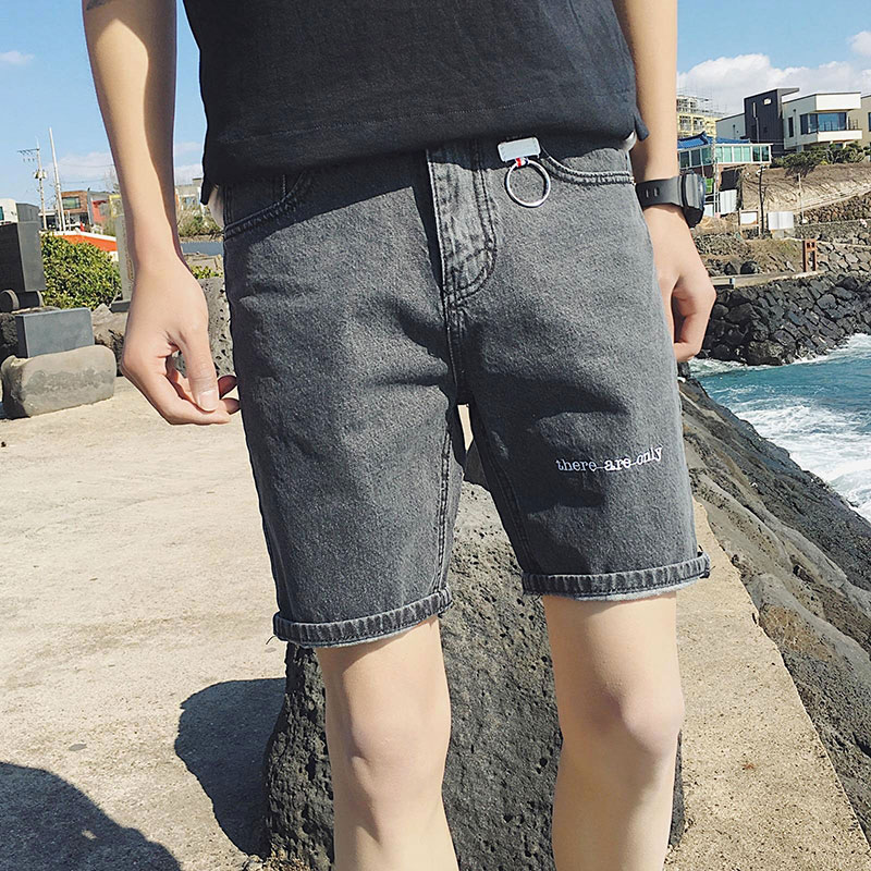 Men Denim Shorts Casual Summer Thin Section Elastic Slim Fit Cargo Short Jeans Male Streetwear Vintage Roupas Sweatpants EE5DK