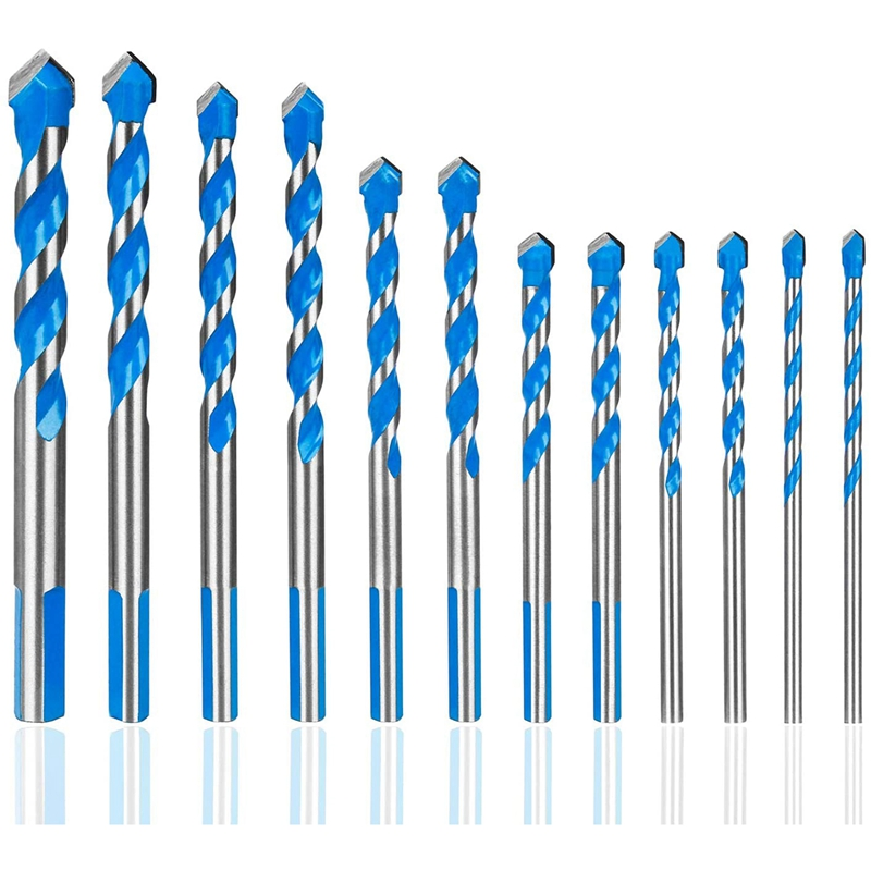 12 Pcs Masonry Drill Bits Set 3mm To 12mm Carbide Twist Tips For WALL, BRICK, CEMENT, CONCRETE, GLASS, WOOD) Have Industrial Str