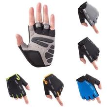 Cycling Anti-slip Anti-sweat Men Women Half Finger Gloves Breathable Anti-shock Sports Gloves MTB Bike Bicycle Riding Glove