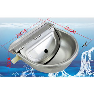 Image 5 - Farming Pet Sheep Dog Horse Automatic Float Cattle Cow Water Bowl Drink With Drain Hole Goat Trough Supplies Stainless Steel