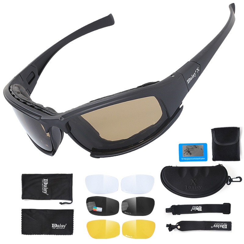 X7 Polarized Light Tactical Goggles CS Special Forces Shooting Bulletproof Explosion Eye-protection Goggles Army Fans Glasses