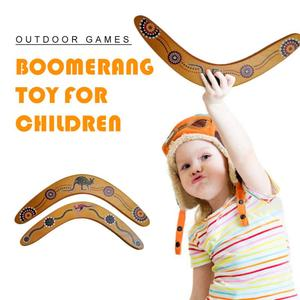 Boomerang V Shaped Throwback Toy Flying Wood Disc Funny Interactive Family Throw Catch Outdoor Fun Game Funny Game Gift Kids NEW
