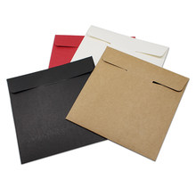 12.5*12.5cm High Quality Disc CD Sleeve 250gsm Thick Kraft CD DVD Paper Bag Cover Wedding Party CD Packaging Envelope Pack Boxes(China)