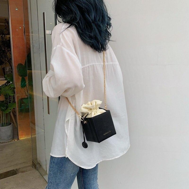 Gykaeo moda drawstring balde bolsas femininas sacos