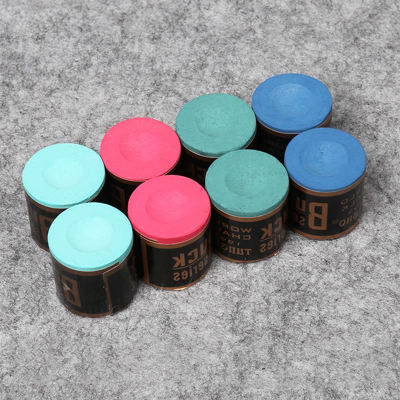 Hot Sale 2pcs Billiard Chalks Pool Cue Stick Snooker Cylindrical Non-toxic No-slip Accessories