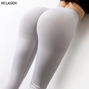 NCLAGEN Seamless Knitting Moisture Absorption Perspire Gym Sport Workout Running Yoga Pants Woman High Elastic Fitness Leggings(China)