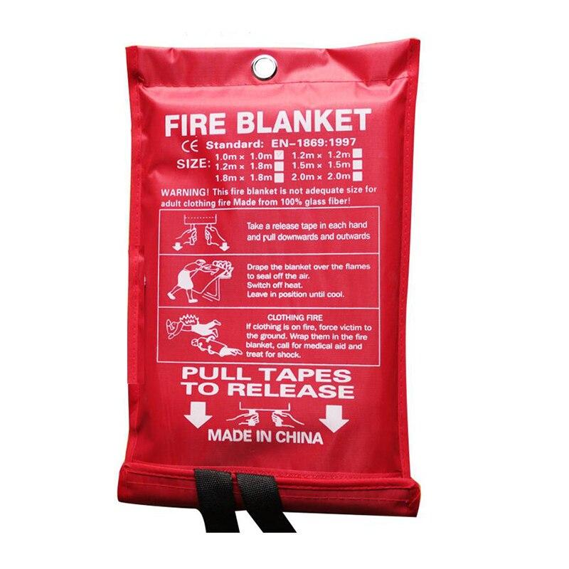 1*1MBlanket Fiberglass Fire Flame Retardant Emergency Survival Fire Shelter Safety Cover Anti fire blanket
