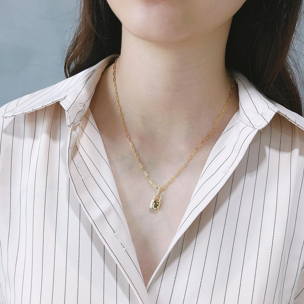 Женское ожерелье с подвеской leouerry из стерлингового серебра