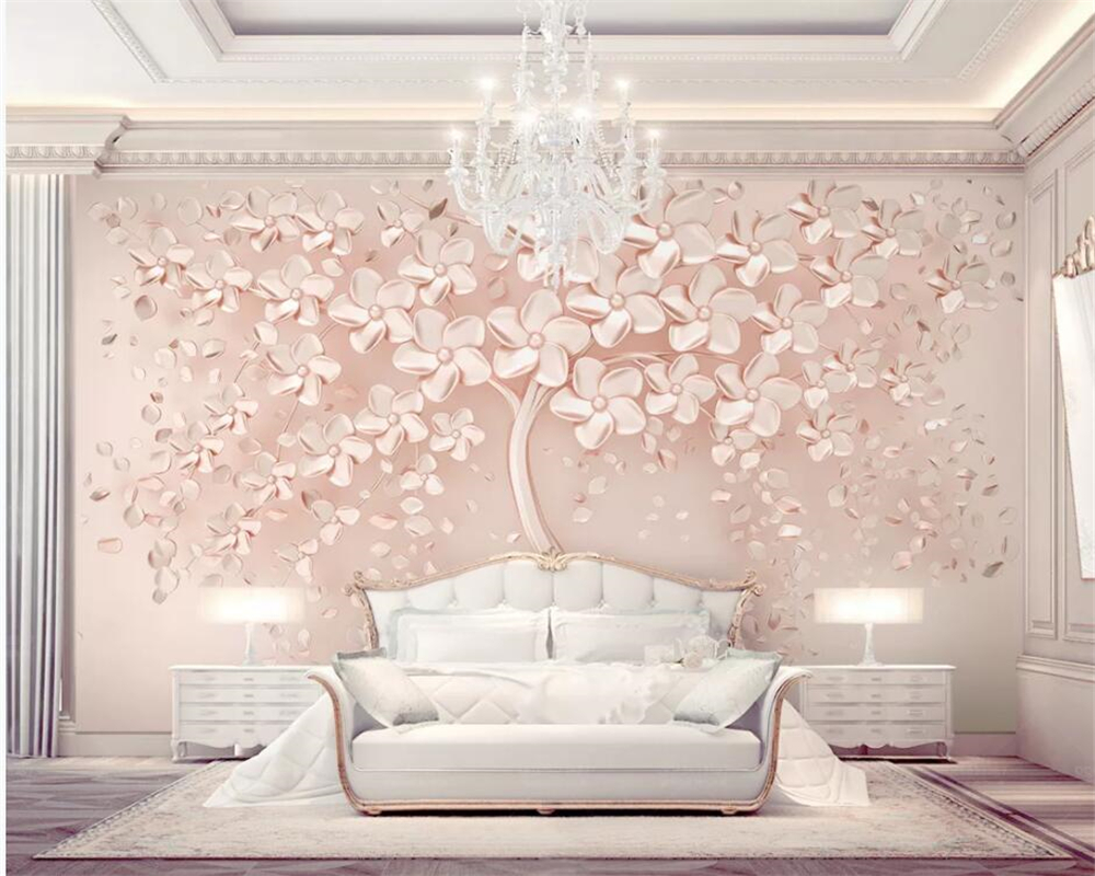 Beibehang Custom Wallpaper Luxury Rose Gold A Blossoming