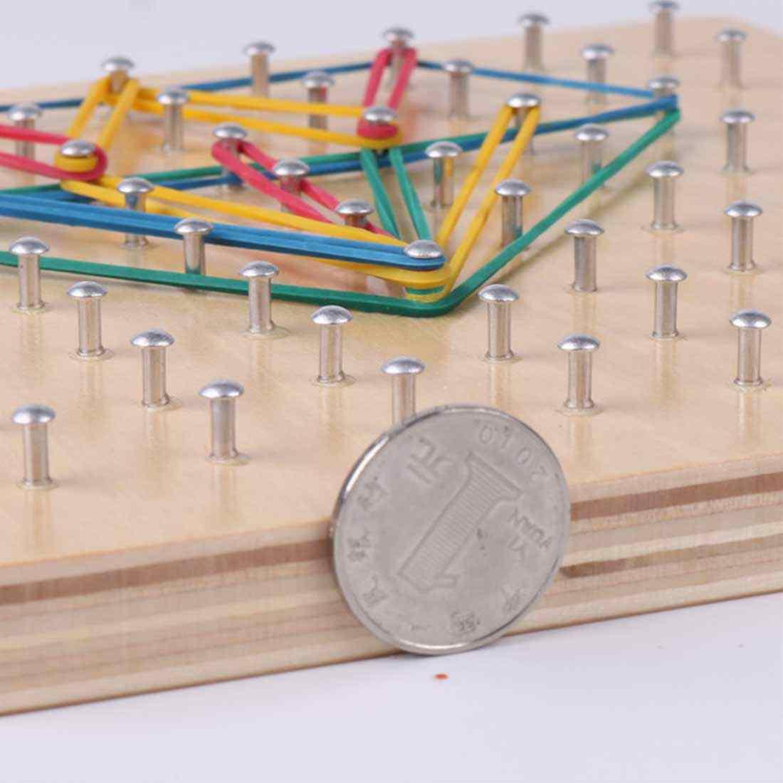 Детская развивающая игрушка для детей Детская игрушка деревянный Творческий Графика резиновые галстуком-бабочкой пилки для ногтей с картами дошкольного возраста