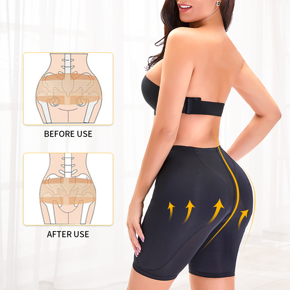 US Stock Women Butt Hip Enhancer Panties Shorts Open Crotch Padded Shapewear