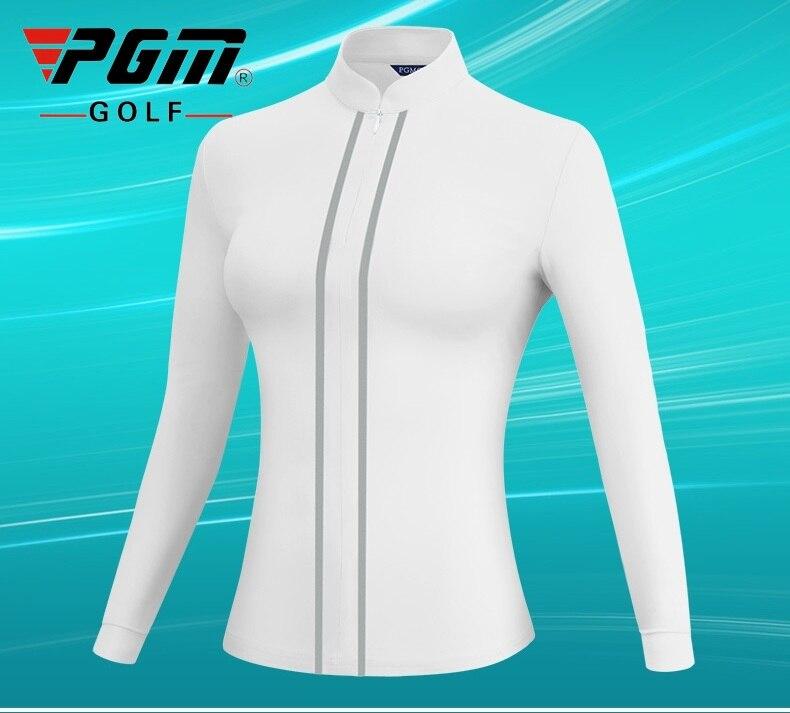 PGM Women Golf Jacket Long Sleeve Keep Warm Windbreaker Ladies Stand Collar Casual Shirt Golf Training Clothing D0975