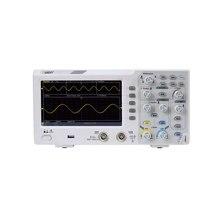 Owon SDS1102 Oscilloscopio a memoria Digitale 2 Canali 100Mhz di larghezza di Banda 7 Display LCD Portatile Portatile USB Oscilloscopi