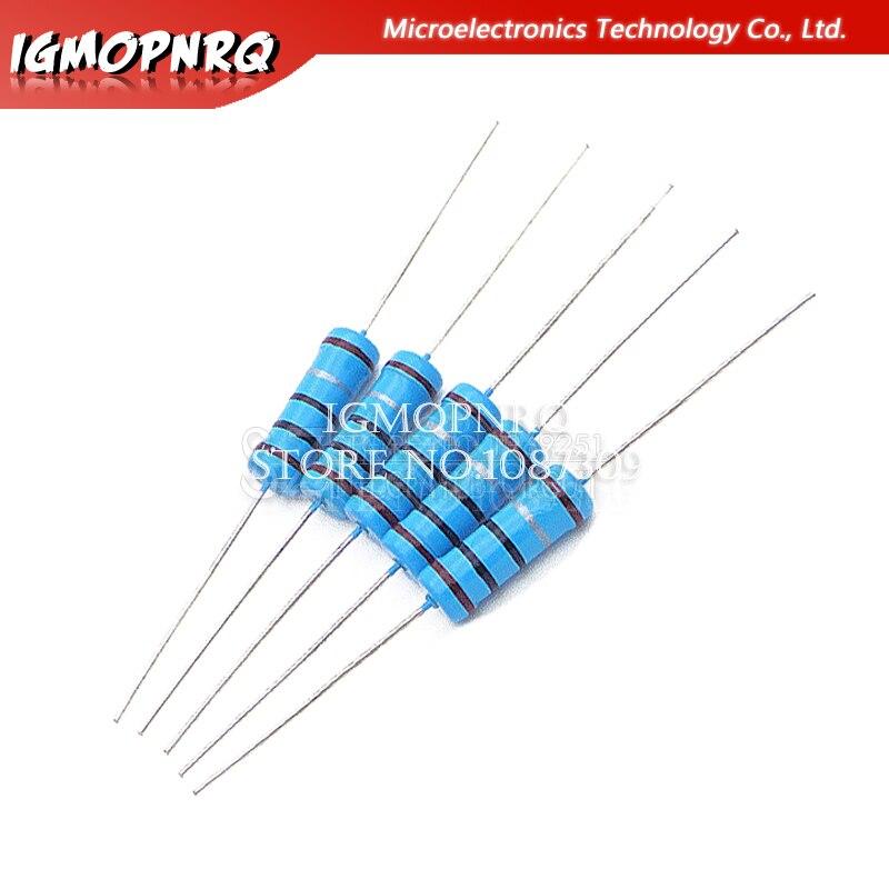 20pcs 3W Metal Film Resistor 1% 1R ~ 1M 1R 4.7R 10R 22R 33R 47R 1K 4.7K 10K 100K 1 4.7 10 22 33 47 4K7 Ohm Hjxrhgal
