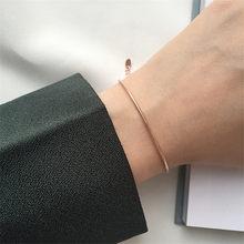 Yun ruo rosa ouro cor cobra osso corrente pulseira ajustada moda mulher presente titânio jóias de aço nunca desaparecer transporte da gota