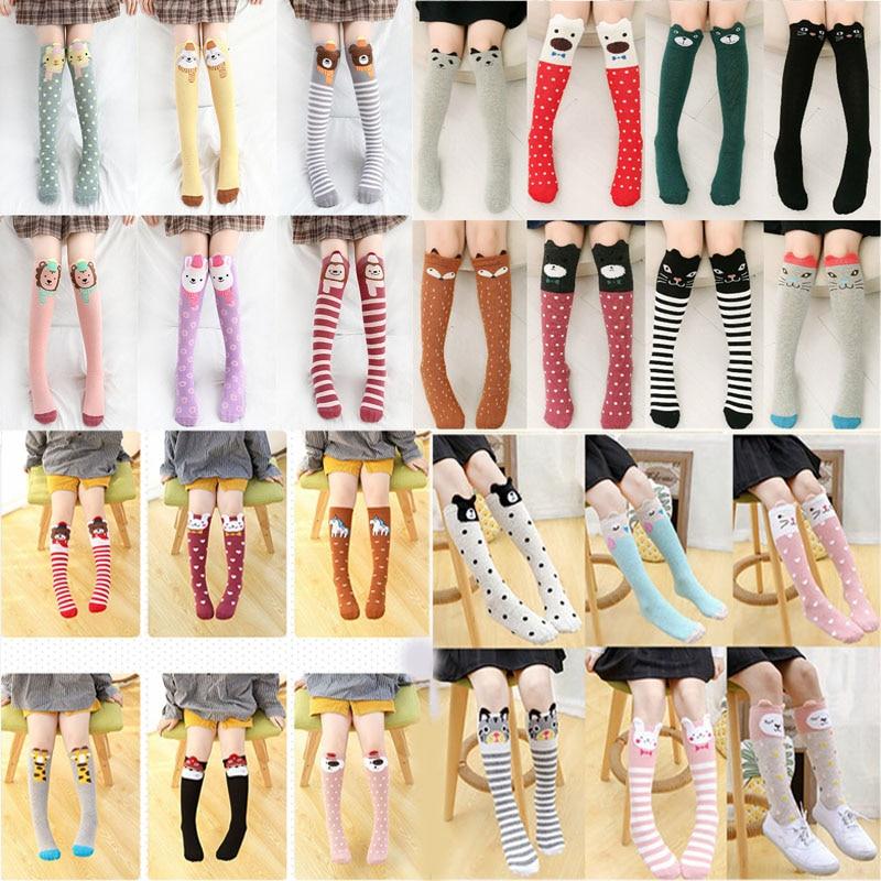 Girls Socks Children's Skarpetki Baby Cute Winter Cartoon Cotton  Calcetines Animal Print High Knee Kids Boy Meia Toddler Socks