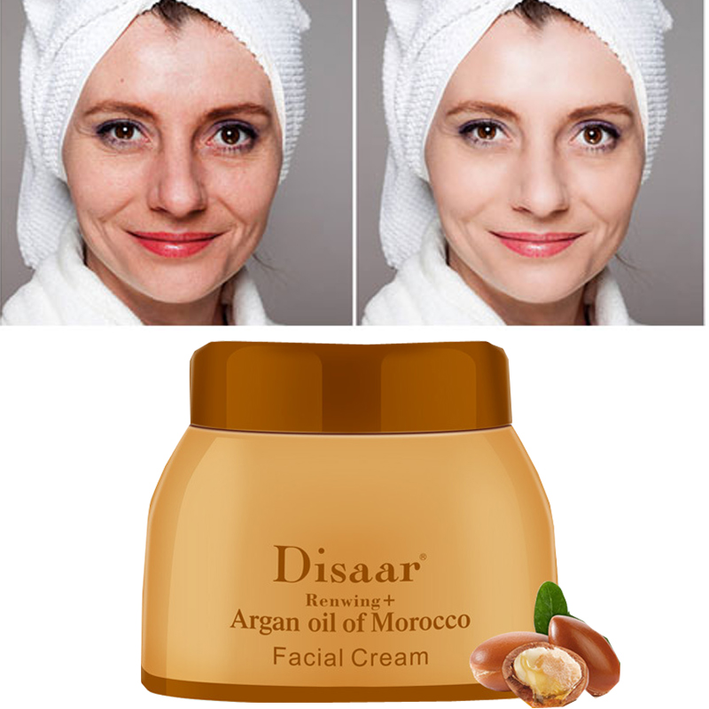 Renwing Argan Oil Morocco Facial Cream Repair Seruming 50g Luxury Facial Cream Serum Skin Care Anti-aging Face Lifting Firming