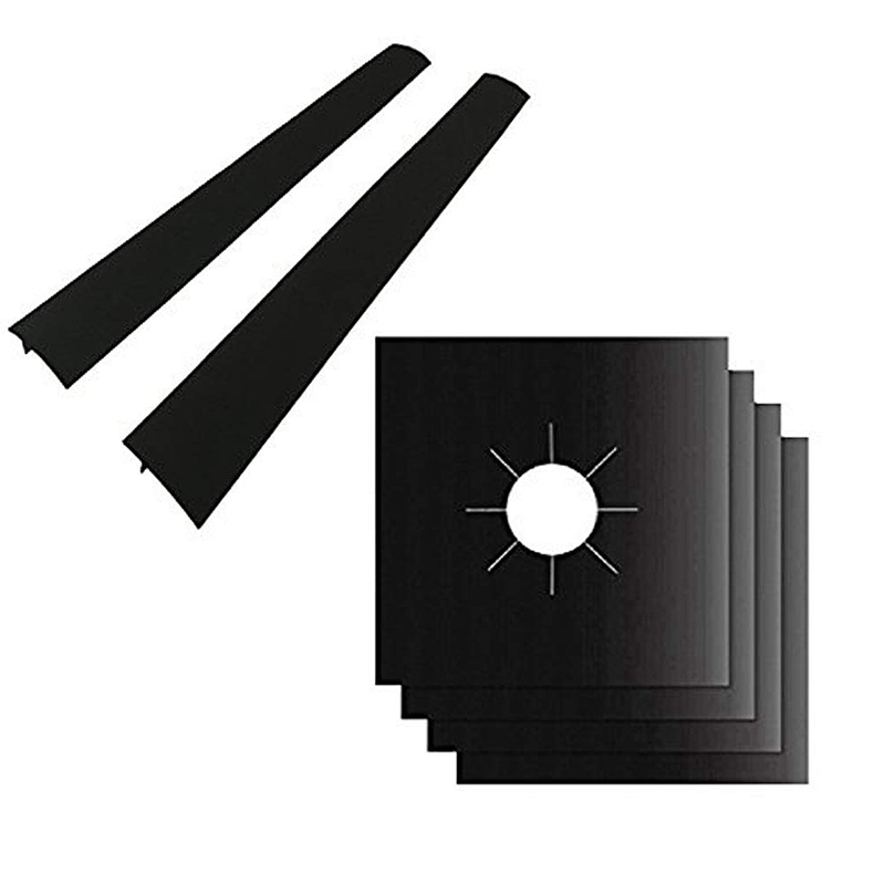 4 Pack Gas Range Protectors And 2 Pack Silicone Stove Counter Gap Cover Burner Protector Liner Cover Gas Hob Range Protectors in Other Cookware Parts from Home Garden