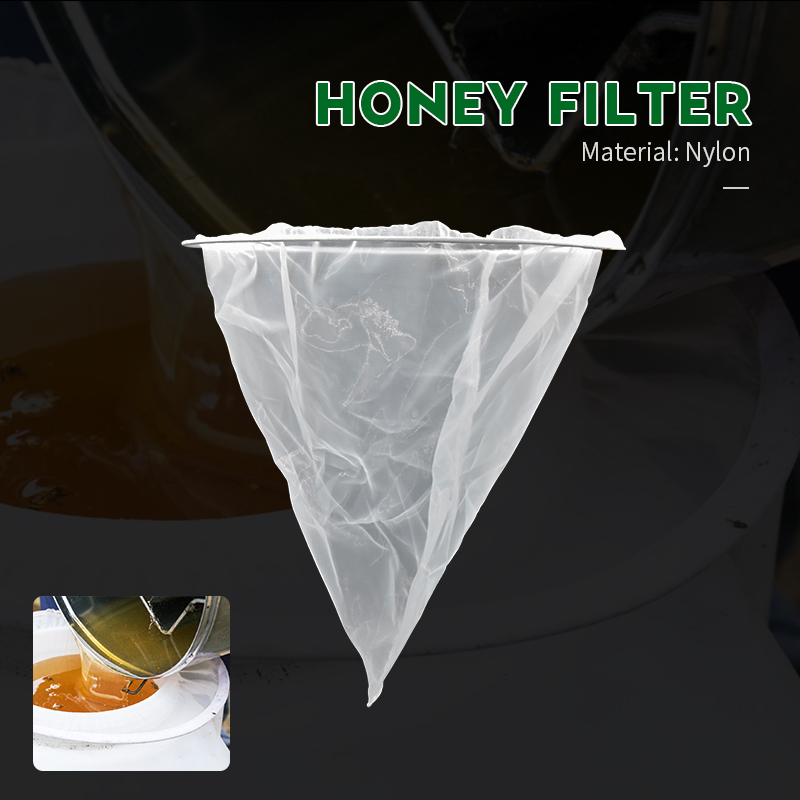 Honey Flow Filter Mesh Nylon Cone-shape Beekeeping Strainer Fiber Bee Net Purifier Beekeeper Beehive Tools Bees Equipment