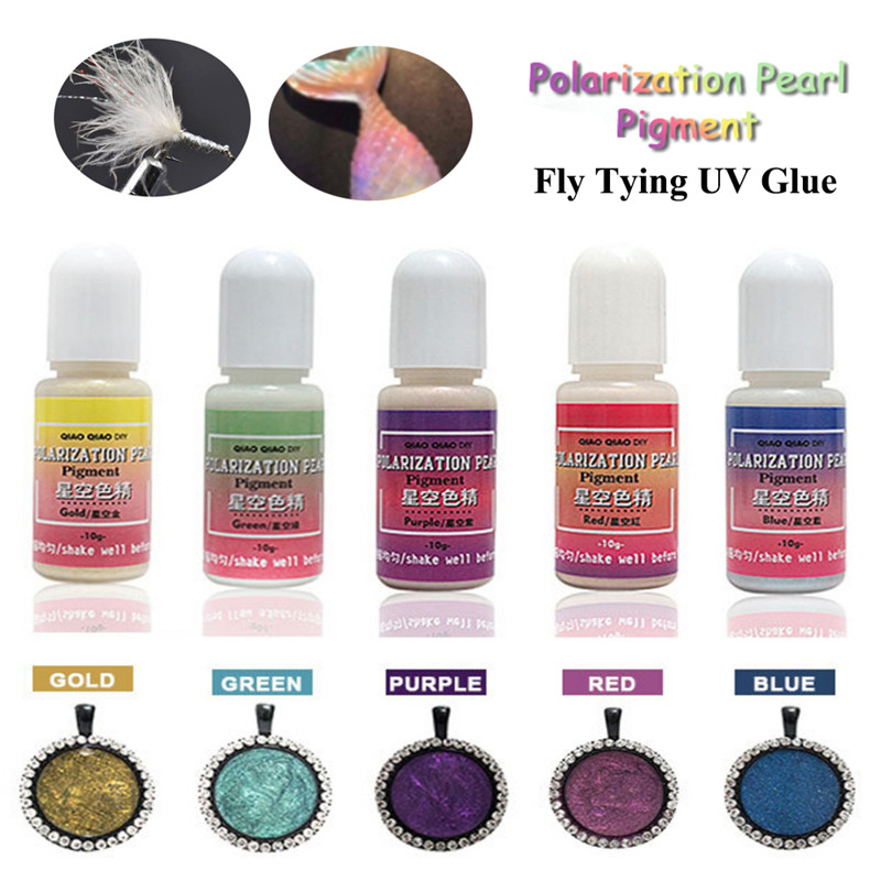 Fly Fishing UV Clear Finish Glue Combo Thin Thick Instant Cure Super Clear UV Glue Fluorescent Design Night Fishing Supplies