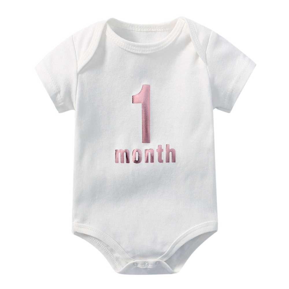 新生児 0-1 月の女の赤ちゃん少年ボディスーツ白綿 o ネックベビー幼児服の手紙私は、 mom dad パジャマ衣装小さな夏