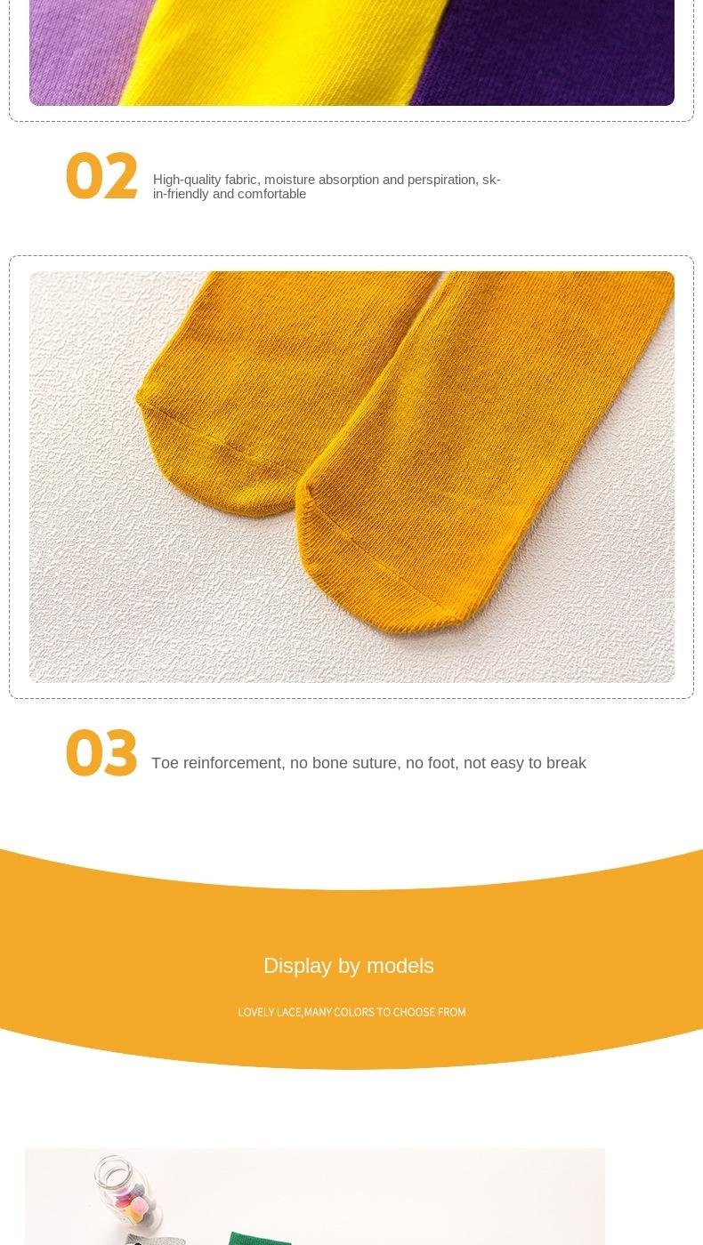 Гольфы детские до колен носки для новорожденных девочек хлопковые