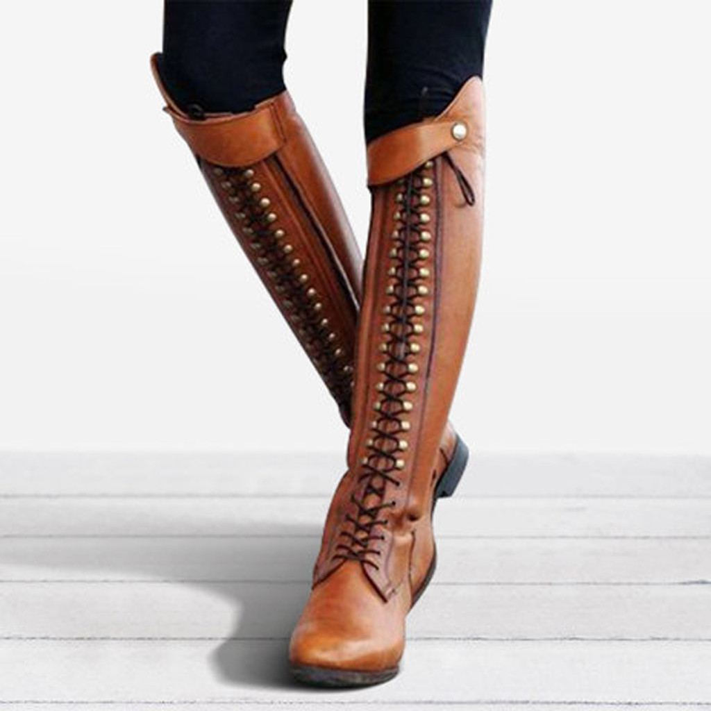 Womens Boots Ladies Western Platform
