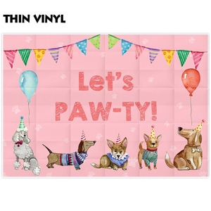 Image 3 - Allenjoy photography backdrop Dogs Banners Balloons Birthday Baby Shower party photophone photographic backgrounds