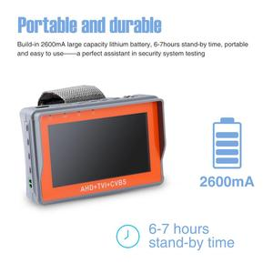 Image 2 - ANNKE 4.3 Cal 1080P tester kamery monitoringu AHD CVI TVI analogowy CVBS w 1 anologu testowanie kamery PTZ UTP tester kabli 12V1A wyjście