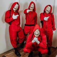 Costume De film Salvador Dali vol d'argent La maison De papier La Casa De Papel Cosplay Costumes De fête d'halloween avec masque