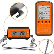 Термометр для барбекю, беспроводная подсветка, цифровой термометр для приготовления мяса, еды, кухни, духовки, термометр с зондом, 2 температурных будильника