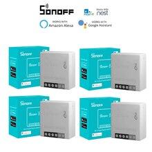 1-30pcs SONOFF MINIR2 Wireless Wifi DIY Mini R2 Switch 2 Way Wiring Smart Home Automation,Support EWeLink APP Alexa Google Home