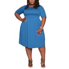 AYES Plus Size Dress Women Summer 2021 Pockets Solid Casual High Waist Bodycon Streetwear Midi Dresses Sexi Sukienka L-5xl Robe