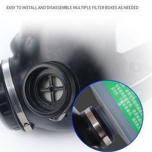 Image 3 - Volledige Facemask Respirator Airsoft Gas Masker Bril Cs Transpiratie Stof Gezichtsmasker Voor Chemie Verf E65A