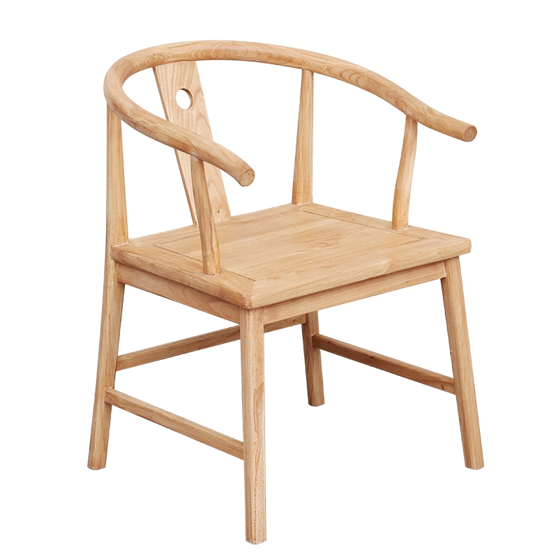 FAS-level Ash Wood Master Design Simple Casual Nordic Style Pure Solid  Cafe Y-shaped Armrest Dining Chair